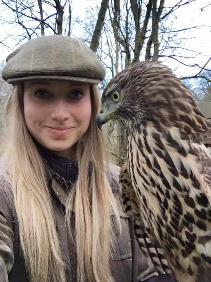 Katie Bass at the National Centre for Birds of Prey, Duncombe Park, Helmsley UK