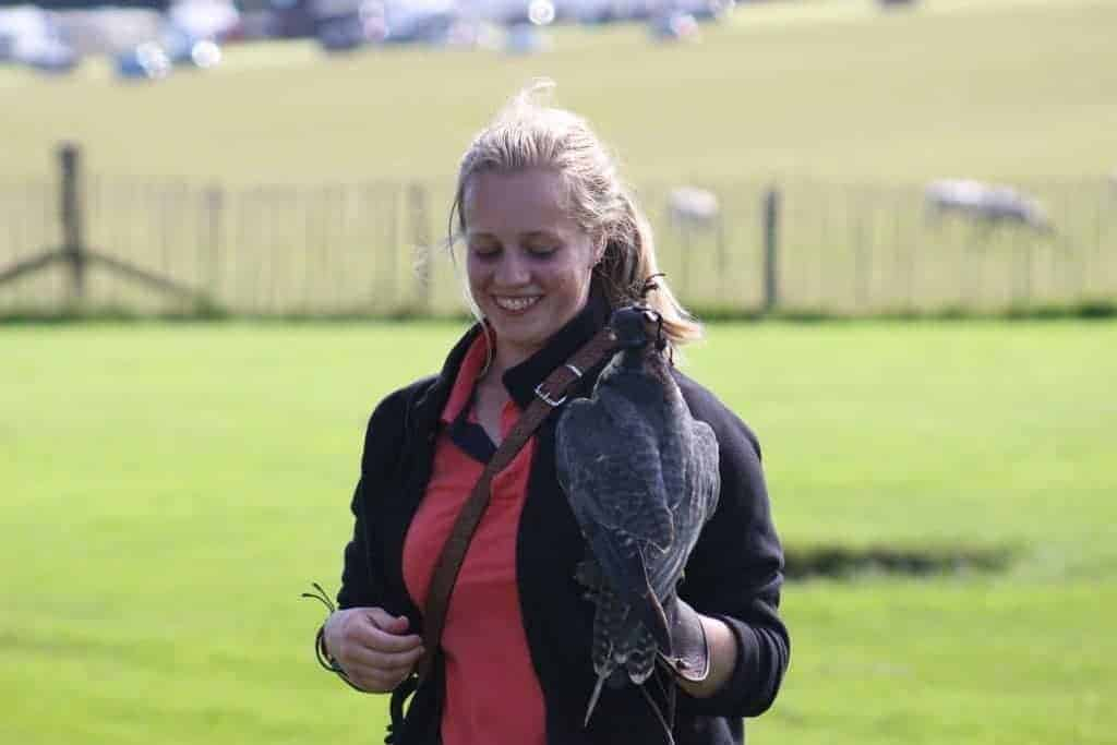 Sarah Brierley at the National Centre fort Birds of Prey